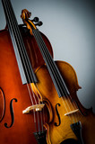Fototapety Violin in dark room  - music concept