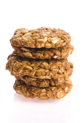 oat cakes on a white background