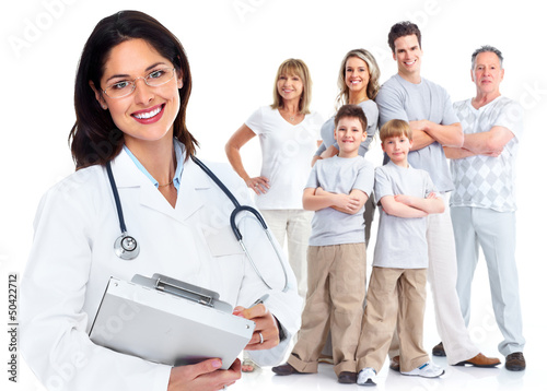 Family doctor woman. Health care. - 50422712