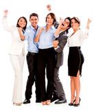 Business team celebrating