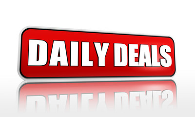 daily deals red banner