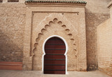 Back Entrance to the Koutoubia Mosque in Marrakech, Morocco