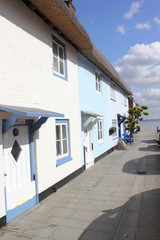 Old Thatched houses on hayling island waterfront