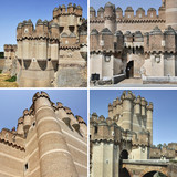 Set of Coca Castle, Segovia - a medieval fortress in Spain