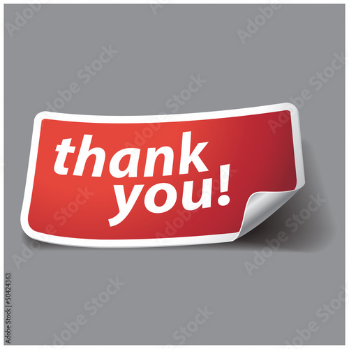 Thank you - grateful label. Vector.
