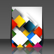 Colorful square empty background - blank quadrat vector design -