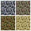 Set Of Classic Camouflage Seamless Patterns. Original Texture, B