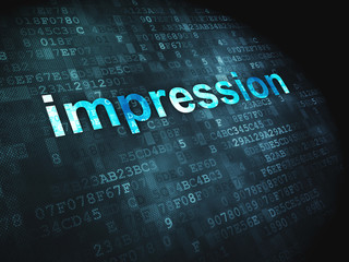 Marketing concept: Impression on digital background