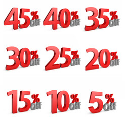 5 - 45 Percent OFF Discount