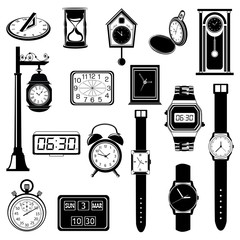 Clock/Watch evolution vector set