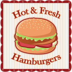 burger sign vector