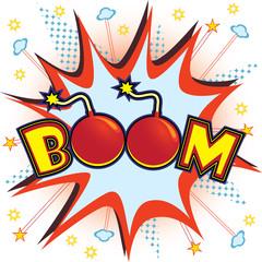 Boom explosion vector