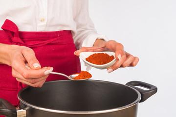 Seasoning with paprika