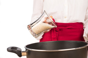 Cooking with rice
