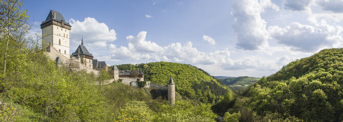 Karlstejn castle panorama