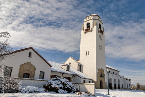 On a cold winter day the Boise Train Depot