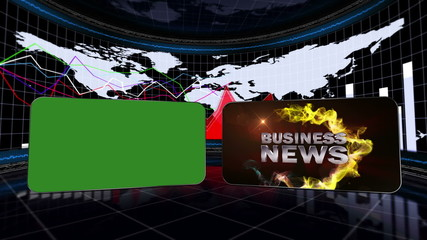 Business News, Loop - Green Screen and Alpha Channel - HD1080