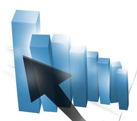 3d Business success graph