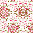 vector seamless vintage floral pattern background