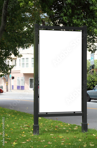 Blank billboard - clipping path included