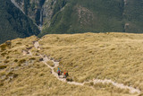 hikers on trek in Arthur's Pass National Park