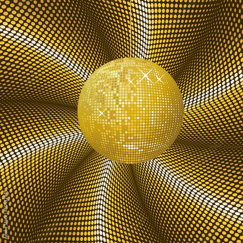 Sparkling gold disco ball