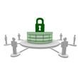 datenbank, db, schloss, sicher, firewall, passwort,