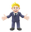 Blonde businessman cartoon