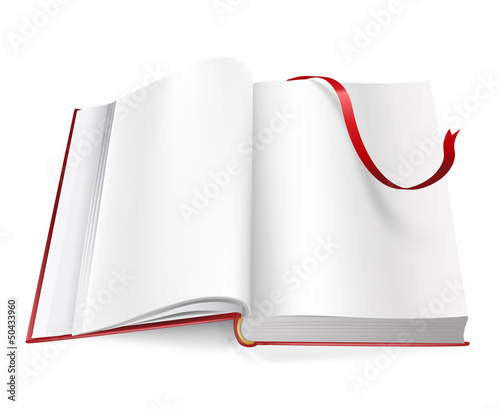 book with blank pages and sign