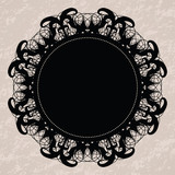 Elegant lacy doily for scrapbooks