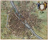 Paris vintage map