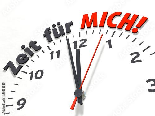 canvas print picture Uhrenserie: Zeit für MICH!