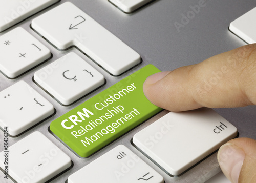 CRM Customer Relationship Management tastatur finger