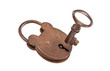 Padlock and key (with clipping path)