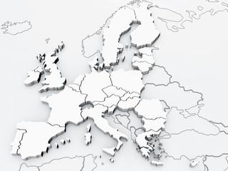 Europa und angrenzende Länder detailgetreu (8000px)