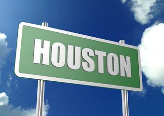 Houston road sign
