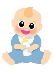 ご機嫌な赤ちゃん(男の子)