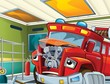 The red firetruck - duty - illustration for the children
