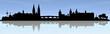 Regensburg Skyline blauer Himmel