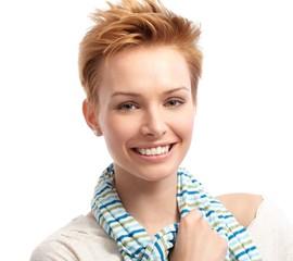 Closeup portrait of fresh woman