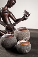 Candlesticks as interior decoration