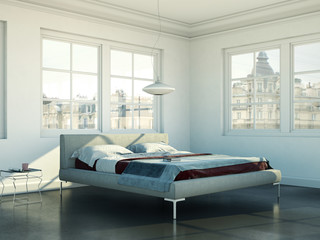 Schlafzimmer in Stadtwohnung