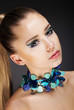 Glamor. Romantic Elegant Girl with Accessories. Gemstones Beads