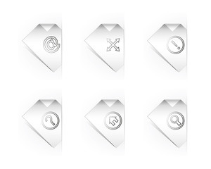 Six Paper Icons For Website Design
