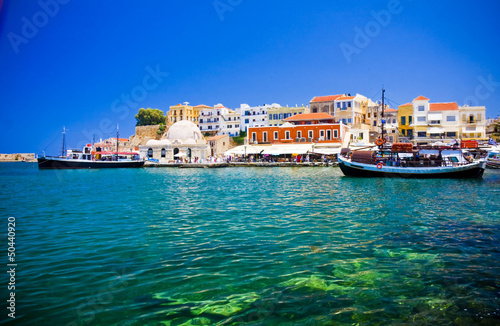 Harbor and streets of Chania/Crete/Greece