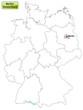 Landkarte von Deutschland und Berlin