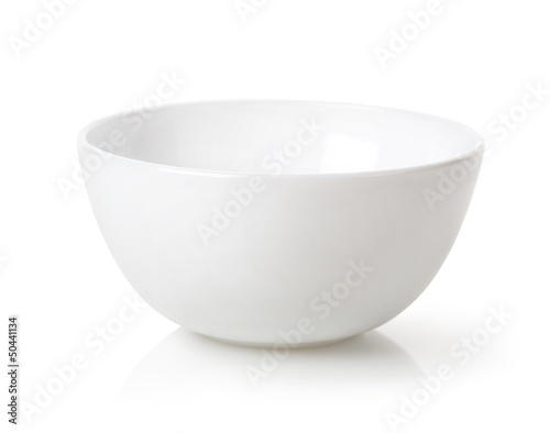 Empty white bowl