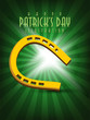 Abstract design of Saint Patrick's Day background with gold colo