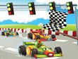The formula race - super car - illustration for the children