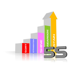 An illustration of 5S process strategy